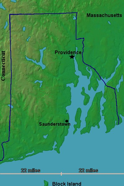 Topographic Map Rhode Island.History Background Page Of First Day Ceremony Program Rhode
