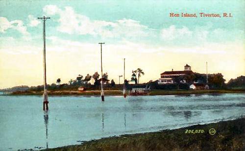 Rhode Island Pictorial Post Cards Hen Island Tiverton