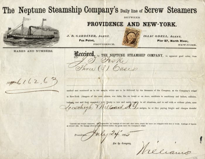 Rhode Island Revenue Covers Neptune Steamship Company Shipping – What is a Shipping Invoice