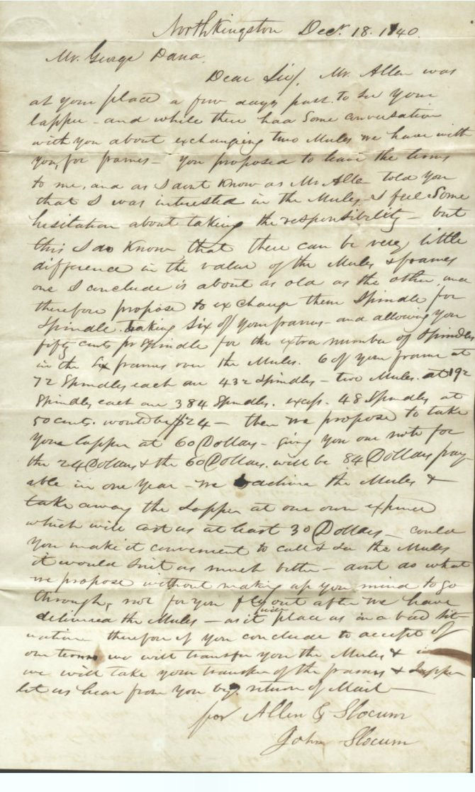 Rhode Island Stampless Letter Interesting 1840 Letter To
